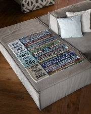 """WIN OR LEARN - GRANDMA TO GRANDSON Small Fleece Blanket - 30"""" x 40"""" aos-coral-fleece-blanket-30x40-lifestyle-front-03"""