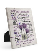 BELIEVE IN YOURSELF - GIFT FOR GRANDDAUGHTER 8x10 Easel-Back Gallery Wrapped Canvas thumbnail
