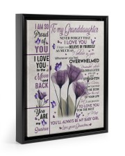 BELIEVE IN YOURSELF - GIFT FOR GRANDDAUGHTER 11x14 Black Floating Framed Canvas Prints thumbnail