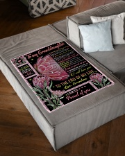 "PROUD OF YOU - BEAUTIFUL GIFT TO GRANDDAUGHTER Small Fleece Blanket - 30"" x 40"" aos-coral-fleece-blanket-30x40-lifestyle-front-03"