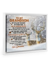 I AM PROUD OF YOU - AMAZING GIFT FOR GRANDSON 14x11 White Floating Framed Canvas Prints thumbnail