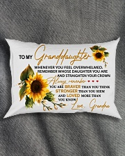 STRAIGHTEN YOUR CROWN -BEST GIFT FOR GRANDDAUGHTER Rectangular Pillowcase aos-pillow-rectangle-front-lifestyle-1