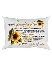 STRAIGHTEN YOUR CROWN -BEST GIFT FOR GRANDDAUGHTER Rectangular Pillowcase front