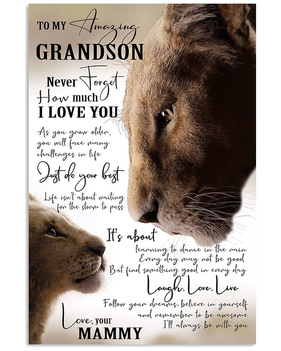 I'LL ALWAYS BE WITH YOU - GREAT GIFT FOR GRANDSON 11x17 Poster