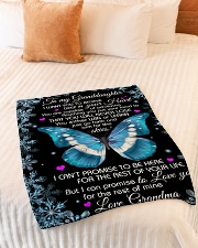 "DEEP IN YOUR HEART - GRANDMA TO GRANDDAUGHTER Small Fleece Blanket - 30"" x 40"" aos-coral-fleece-blanket-30x40-lifestyle-front-01"