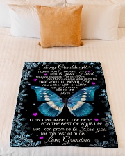 "DEEP IN YOUR HEART - GRANDMA TO GRANDDAUGHTER Small Fleece Blanket - 30"" x 40"" aos-coral-fleece-blanket-30x40-lifestyle-front-04"