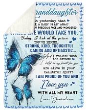 I LOVE YOU - BEST GIFT FOR GRANDDAUGHTER Sherpa Fleece Blanket tile