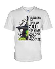 I'M JUST AN OLD GRANDMA - PERFECT GIFT FOR GRANDMA V-Neck T-Shirt tile