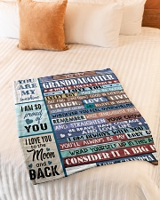 """FIND SOMETHING GOOD - GRANDMA TO GRANDDAUGHTER Small Fleece Blanket - 30"""" x 40"""" aos-coral-fleece-blanket-30x40-lifestyle-front-01"""