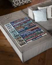 """FIND SOMETHING GOOD - GRANDMA TO GRANDDAUGHTER Small Fleece Blanket - 30"""" x 40"""" aos-coral-fleece-blanket-30x40-lifestyle-front-03"""