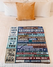 """FIND SOMETHING GOOD - GRANDMA TO GRANDDAUGHTER Small Fleece Blanket - 30"""" x 40"""" aos-coral-fleece-blanket-30x40-lifestyle-front-04"""
