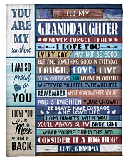 """FIND SOMETHING GOOD - GRANDMA TO GRANDDAUGHTER Small Fleece Blanket - 30"""" x 40"""" front"""