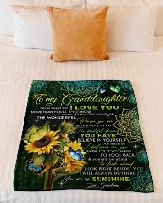 "I LOVE YOU - GRANDMA TO GRANDDAUGHTER Small Fleece Blanket - 30"" x 40"" aos-coral-fleece-blanket-30x40-lifestyle-front-04"