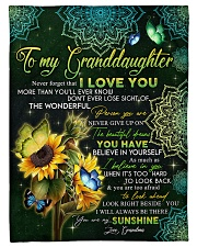 "I LOVE YOU - GRANDMA TO GRANDDAUGHTER Small Fleece Blanket - 30"" x 40"" front"