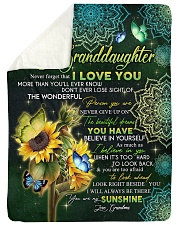 "I LOVE YOU - GRANDMA TO GRANDDAUGHTER Large Sherpa Fleece Blanket - 60"" x 80"" thumbnail"