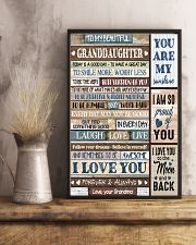 I LOVE YOU - LOVELY GIFT FOR GRANDDAUGHTER 11x17 Poster lifestyle-poster-3