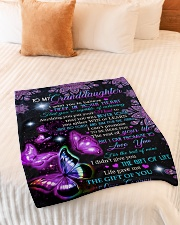 """BELIEVE IN YOUR HEART - GRANNY TO GRANDDAUGHTER Small Fleece Blanket - 30"""" x 40"""" aos-coral-fleece-blanket-30x40-lifestyle-front-01"""