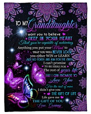 """BELIEVE IN YOUR HEART - GRANNY TO GRANDDAUGHTER Small Fleece Blanket - 30"""" x 40"""" front"""