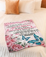"""I LOVE YOU - PERFECT GIFT FOR GRANDDAUGHTER Small Fleece Blanket - 30"""" x 40"""" aos-coral-fleece-blanket-30x40-lifestyle-front-01"""