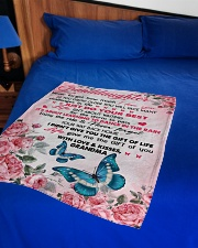 """I LOVE YOU - PERFECT GIFT FOR GRANDDAUGHTER Small Fleece Blanket - 30"""" x 40"""" aos-coral-fleece-blanket-30x40-lifestyle-front-02"""