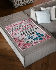 """I LOVE YOU - PERFECT GIFT FOR GRANDDAUGHTER Small Fleece Blanket - 30"""" x 40"""" aos-coral-fleece-blanket-30x40-lifestyle-front-03"""