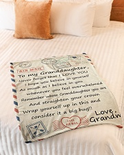 """BELIEVE IN YOURSELF LOVELY GIFT FOR GRANDDAUGHTER Small Fleece Blanket - 30"""" x 40"""" aos-coral-fleece-blanket-30x40-lifestyle-front-01"""