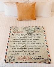 """BELIEVE IN YOURSELF LOVELY GIFT FOR GRANDDAUGHTER Small Fleece Blanket - 30"""" x 40"""" aos-coral-fleece-blanket-30x40-lifestyle-front-04"""