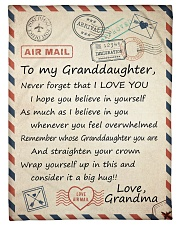"""BELIEVE IN YOURSELF LOVELY GIFT FOR GRANDDAUGHTER Small Fleece Blanket - 30"""" x 40"""" front"""