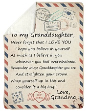 """BELIEVE IN YOURSELF LOVELY GIFT FOR GRANDDAUGHTER Large Sherpa Fleece Blanket - 60"""" x 80"""" thumbnail"""