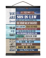 YOU ARE MY FAMILY - GREAT GIFT FOR SON-IN-LAW 12x16 Black Hanging Canvas thumbnail