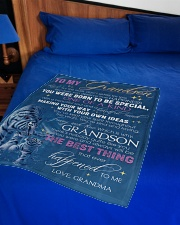 """YOU WERE BORN TO BE SPECIAL - GIFT FOR GRANDSON Small Fleece Blanket - 30"""" x 40"""" aos-coral-fleece-blanket-30x40-lifestyle-front-02"""