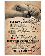 JUST DO YOUR BEST - GREAT GIFT FOR GRANDDAUGHTER 11x17 Poster front