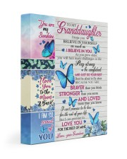 I LOVE YOU - GRANDDAUGHTER GIFT WITH BUTTERFLY 11x14 Gallery Wrapped Canvas Prints front