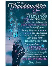 I BELIEVE IN YOU - BEST GIFT FOR GRANDDAUGHTER 11x17 Poster front