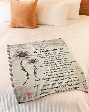 """I'LL ALWAYS BE WITH YOU GIFT FOR GRANDDAUGHTER  Small Fleece Blanket - 30"""" x 40"""" aos-coral-fleece-blanket-30x40-lifestyle-front-01"""