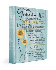 MY SUNSHINE - LOVELY GIFT FOR GRANDDAUGHTER 11x14 Gallery Wrapped Canvas Prints front