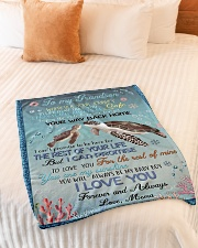 """I LOVE YOU - GRANDSON GIFT WITH TURTLE Small Fleece Blanket - 30"""" x 40"""" aos-coral-fleece-blanket-30x40-lifestyle-front-01"""