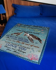 """I LOVE YOU - GRANDSON GIFT WITH TURTLE Small Fleece Blanket - 30"""" x 40"""" aos-coral-fleece-blanket-30x40-lifestyle-front-02"""