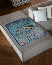 """I LOVE YOU - GRANDSON GIFT WITH TURTLE Small Fleece Blanket - 30"""" x 40"""" aos-coral-fleece-blanket-30x40-lifestyle-front-03"""