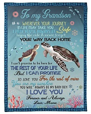 """I LOVE YOU - GRANDSON GIFT WITH TURTLE Small Fleece Blanket - 30"""" x 40"""" front"""