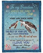 I LOVE YOU - GRANDSON GIFT WITH TURTLE Fleece Blanket tile