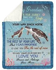 I LOVE YOU - GRANDSON GIFT WITH TURTLE Sherpa Fleece Blanket tile