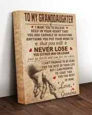 NEVER LOSE - SPECIAL GIFT FOR GRANDDAUGHTER 11x14 Gallery Wrapped Canvas Prints aos-canvas-pgw-11x14-lifestyle-front-17