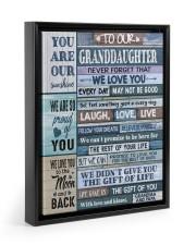 YOU ARE OUR SUNSHINE - GIFT FOR GRANDDAUGHTER Floating Framed Canvas Prints Black tile