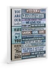 YOU ARE OUR SUNSHINE - GIFT FOR GRANDDAUGHTER Floating Framed Canvas Prints White tile