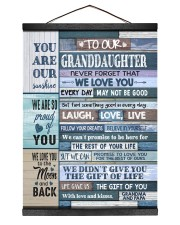 YOU ARE OUR SUNSHINE - GIFT FOR GRANDDAUGHTER Hanging Canvas tile