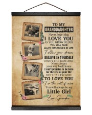 FOLLOW YOUR DREAMS - GREAT GIFT FOR GRANDDAUGHTER 12x16 Black Hanging Canvas thumbnail