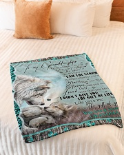 "I AM THE STORM - GRANDMA TO GRANDDAUGHTER Small Fleece Blanket - 30"" x 40"" aos-coral-fleece-blanket-30x40-lifestyle-front-01"