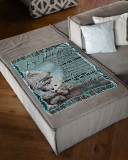 "I AM THE STORM - GRANDMA TO GRANDDAUGHTER Small Fleece Blanket - 30"" x 40"" aos-coral-fleece-blanket-30x40-lifestyle-front-03"