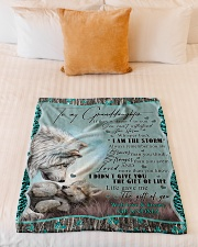 "I AM THE STORM - GRANDMA TO GRANDDAUGHTER Small Fleece Blanket - 30"" x 40"" aos-coral-fleece-blanket-30x40-lifestyle-front-04"